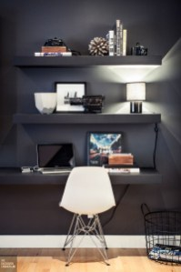 Best Home Office Ideas With Black Walls 23