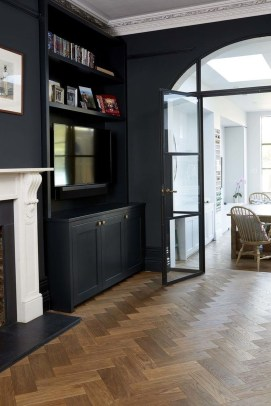Best Living Room Ideas With Black Walls 08
