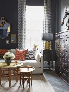 Best Living Room Ideas With Black Walls 10