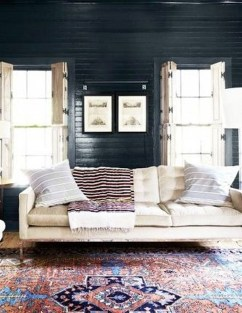 Best Living Room Ideas With Black Walls 32