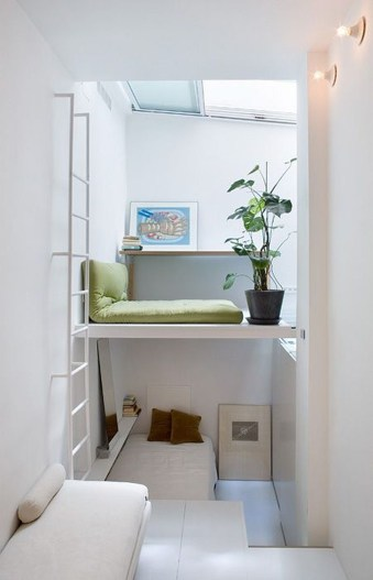 Contemporary Micro Apartment Organized With Boxes 15