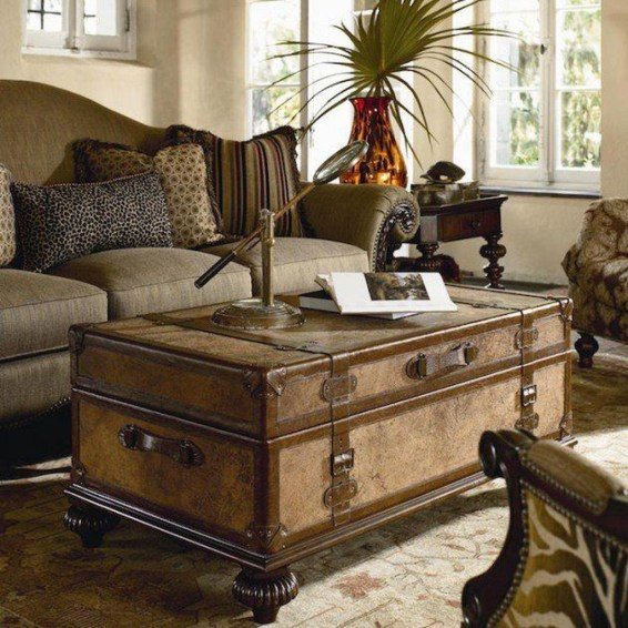 Ideas To Decorate Your House With Vintage Chests And Trunks 42