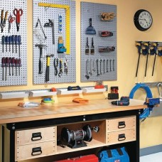 Smart Ways To Organize Your Home With Pegboards 04