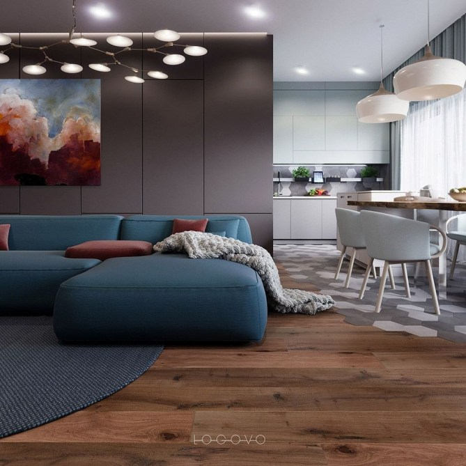 Apartment With Colorful Interior Design 54