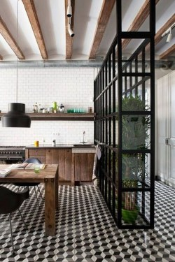 Beautiful Open Kitchens With Unique Partitions And Room Dividers 36