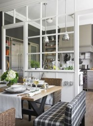 Beautiful Open Kitchens With Unique Partitions And Room Dividers 43
