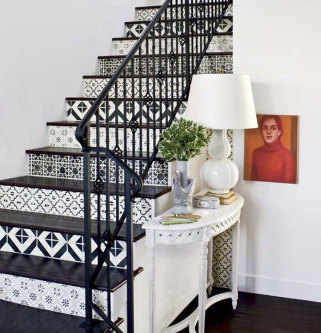 Beautiful Tiled Stairs Designs For Your House 47