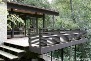 Wood Railing Ideas For Your House Style 05