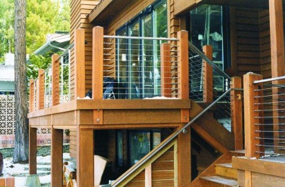 Wood Railing Ideas For Your House Style 18