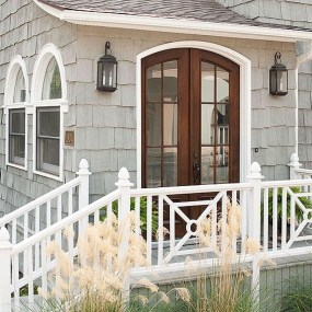Wood Railing Ideas For Your House Style 24
