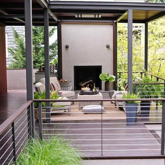 Wood Railing Ideas For Your House Style 35
