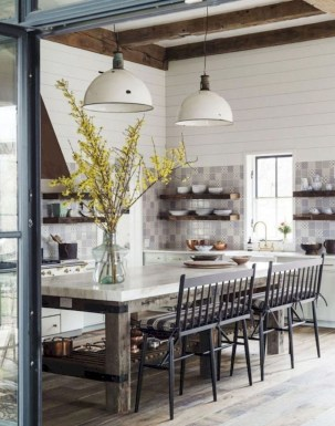 Amazing Farmhouse Kitchen Tables Ideas 34