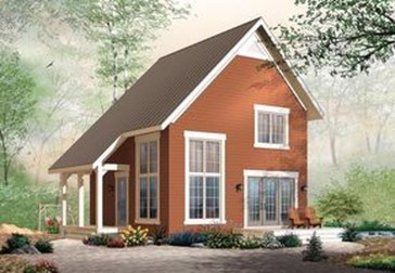 Simple House With Warm Wooden Interior 01