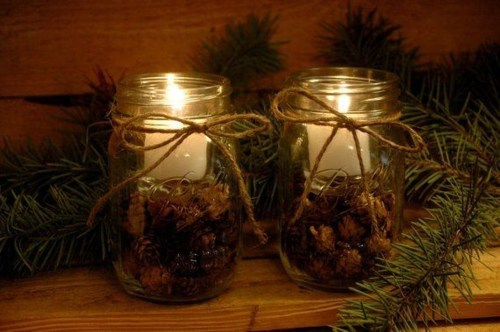 Charming Christmas Candle Decor Ideas 06