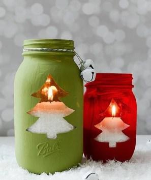 Charming Christmas Candle Decor Ideas 24