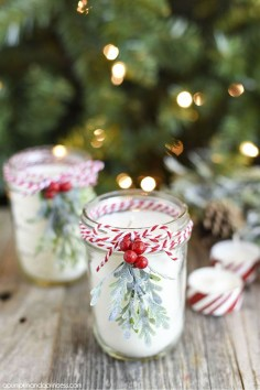 Charming Christmas Candle Decor Ideas 26