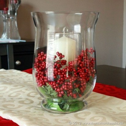 Charming Christmas Candle Decor Ideas 33