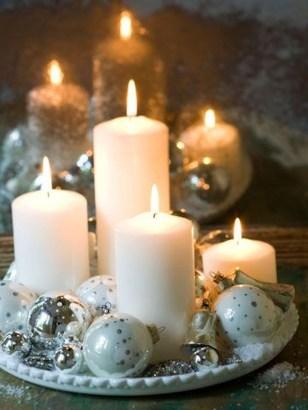 Charming Christmas Candle Decor Ideas 35