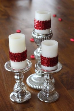 Charming Christmas Candle Decor Ideas 42