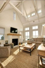 Comfy Winter Living Room Ideas With Fireplace 03