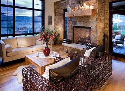 Comfy Winter Living Room Ideas With Fireplace 16