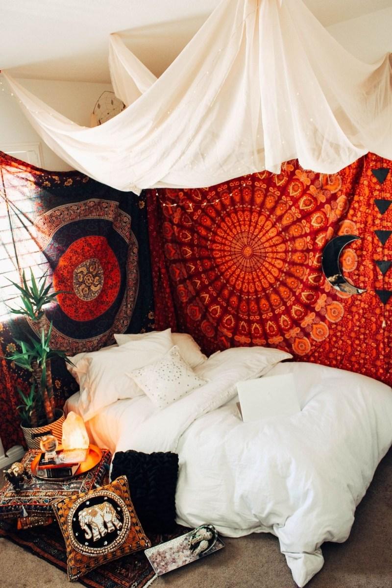 Creative Bohemian Bedroom Decor Ideas 47