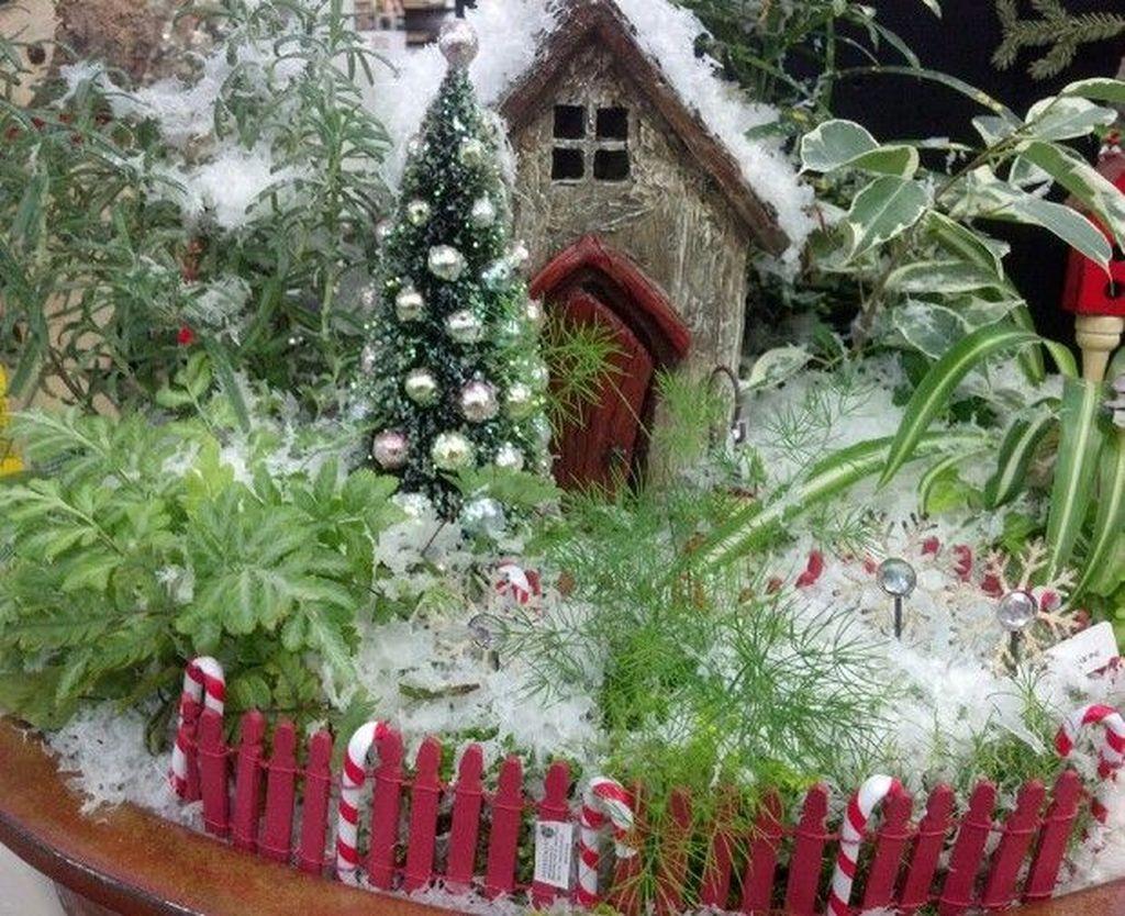 Pretty Diy Christmas Fairy Garden Ideas 04