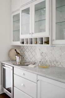 Pretty White Kitchen Backsplash Ideas 19