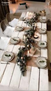 Stunning Christmas Dining Table Decoration Ideas 42