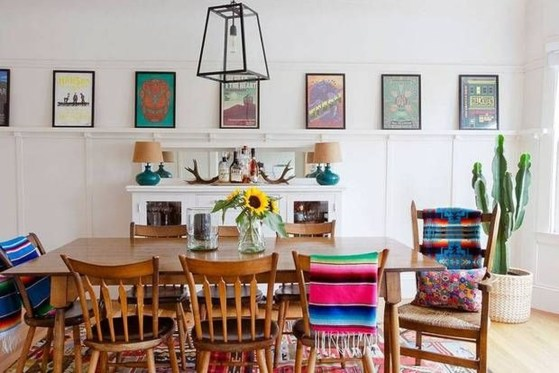 Awesome Bohemian Dining Room Design And Decor Ideas 01