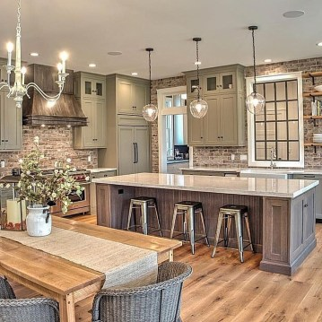 Awesome Farmhouse Kitchen Design Ideas 36