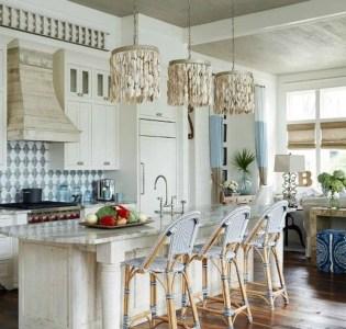 Elegant Beach Coastal Style Kitchen Decor Ideas 01