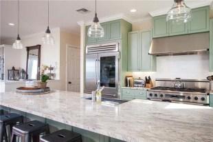 Elegant Beach Coastal Style Kitchen Decor Ideas 06