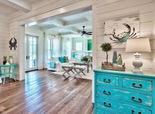 Elegant Beach Coastal Style Kitchen Decor Ideas 07
