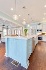 Elegant Beach Coastal Style Kitchen Decor Ideas 14