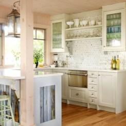 Elegant Beach Coastal Style Kitchen Decor Ideas 15