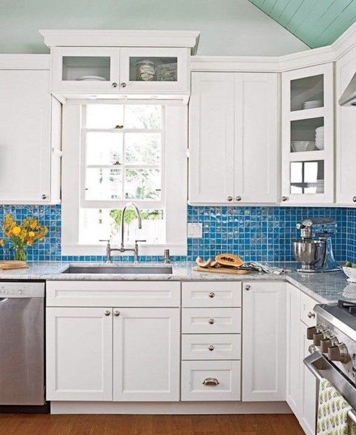 Elegant Beach Coastal Style Kitchen Decor Ideas 19