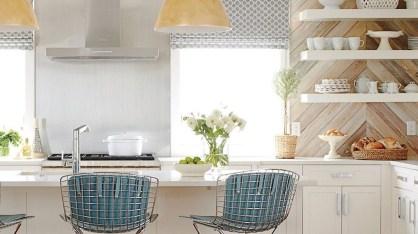 Elegant Beach Coastal Style Kitchen Decor Ideas 22