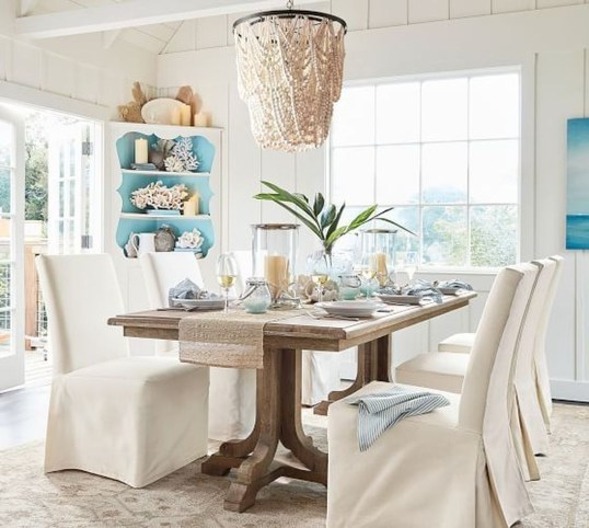 Elegant Beach Coastal Style Kitchen Decor Ideas 35