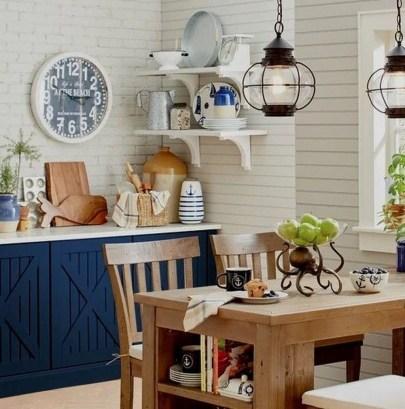 Elegant Beach Coastal Style Kitchen Decor Ideas 50