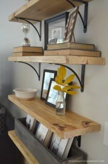Inspiring Diy Wood Shelves Ideas On A Budget 23