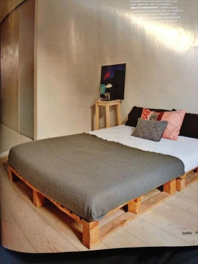 Lovely Diy Wooden Platform Bed Design Ideas 37