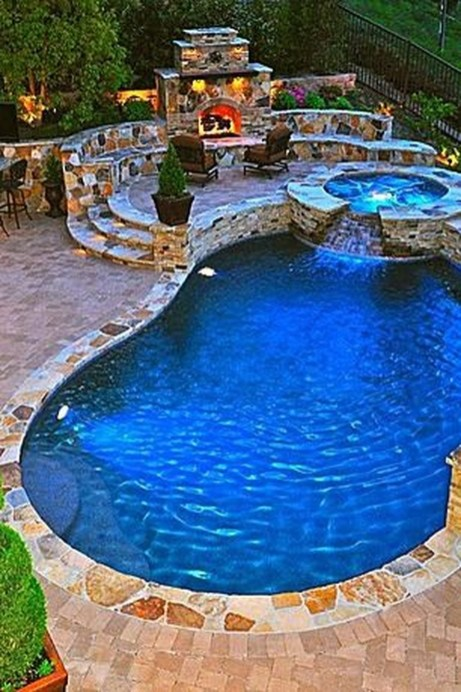 Perfect Mediteranean Swimming Pool Design Ideas 38