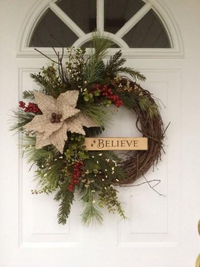 Romantic Rustic Christmas Decoration Ideas 45