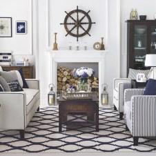 Stylish Coastal Themed Living Room Decor Ideas 06