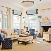 Stylish Coastal Themed Living Room Decor Ideas 28