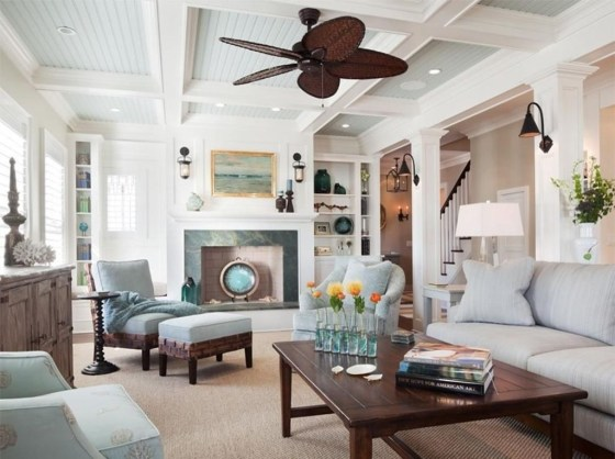 Stylish Coastal Themed Living Room Decor Ideas 32