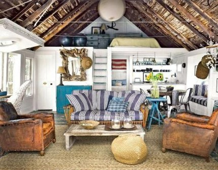 Stylish Coastal Themed Living Room Decor Ideas 45