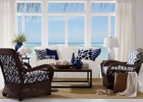 Stylish Coastal Themed Living Room Decor Ideas 50