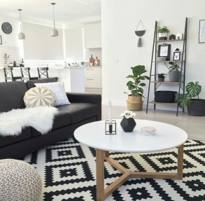 Affordable Apartment Living Room Design Ideas With Black And White Style 14